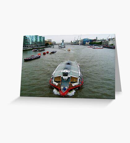 river traffic Greeting Card