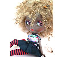 Blythe Blonde Afro Photographic Print