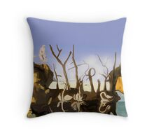 Swans and Elephants Throw Pillow