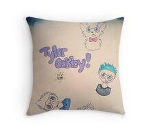 Tyler OAKley lol u get it? like me? ahhahahahhahaha im so lonely Throw Pillow