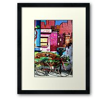 it's what they call 'protective colouring' Framed Print