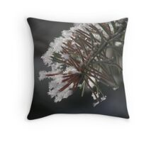 Frost So Fine On Pine Throw Pillow