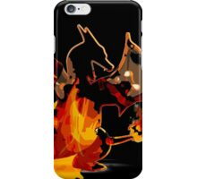 Pokemon - Charizard red fire - Black Version iPhone Case/Skin