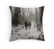 Blizzard in the Woods Throw Pillow
