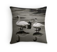 Reflected Swans Throw Pillow