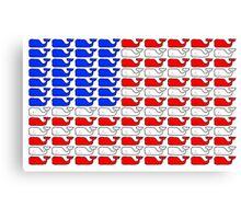 Vineyard Vines American Flag Canvas Print