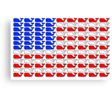 Vineyard Vines American Flag Canvas Print