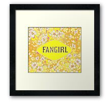 FANGIRL - FLORAL YELLOW Framed Print