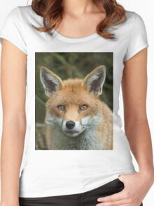 Red Fox portrait Women's Fitted Scoop T-Shirt