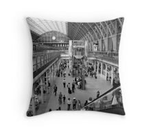 st. pancras station Throw Pillow