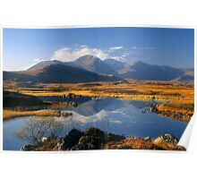 The Blackmount, Rannoch Moor, Highlands of Scotland. Poster