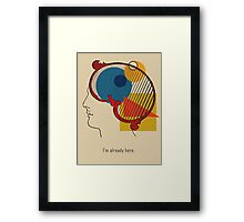 A Quick Thought. Framed Print
