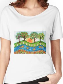 """""""Sunrise At The Orchard""""  Women's Relaxed Fit T-Shirt"""