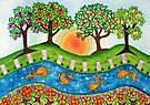 """""""Sunrise At The Orchard""""  by Lisafrancesjudd"""