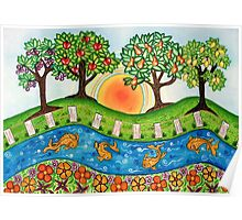 """""""Sunrise At The Orchard""""  Poster"""