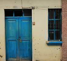 Blue Door in a Wall by rhamm