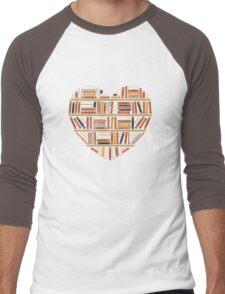 I Heart Books Men's Baseball ¾ T-Shirt