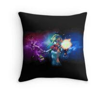 Spectral Smoke Aigis Throw Pillow