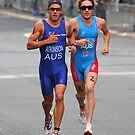 Courtney Atkinson racing Daniel Wilson by fotosports
