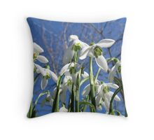Snowdrops from the sky Throw Pillow