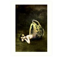 The teacup Art Print