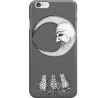 Three Tabbies Meet The Man In The Moon iPhone Case/Skin