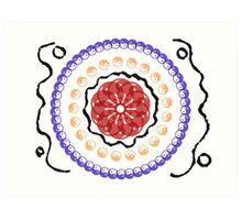Ying and Yang Circle Art Print