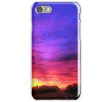 Magenta Sky Drive iPhone Case/Skin