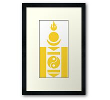 Mongolian Air Force - Roundel Framed Print