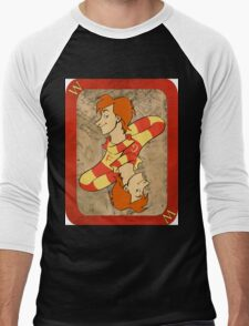 Fred and George Playing Card Men's Baseball ¾ T-Shirt