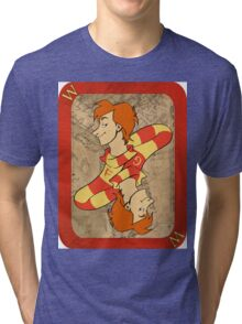 Fred and George Playing Card Tri-blend T-Shirt
