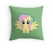 Peeky Fluttershy Throw Pillow