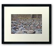 Sea of Rocks Framed Print