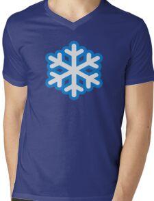 Snow snowflake Mens V-Neck T-Shirt