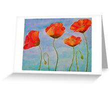 red amapola Greeting Card
