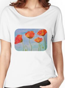 red amapola Women's Relaxed Fit T-Shirt