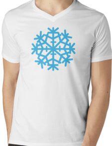 Blue ice snow Mens V-Neck T-Shirt