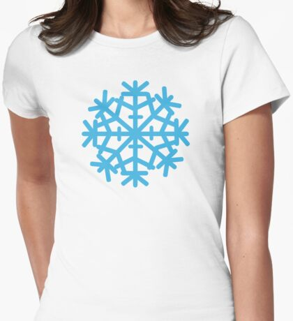 Blue ice snow Womens Fitted T-Shirt
