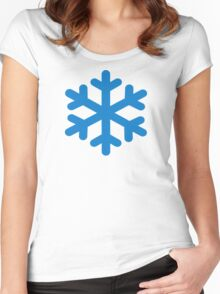 Blue snow Women's Fitted Scoop T-Shirt