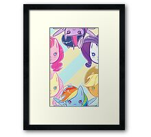 MLP - Mane 6 Large Framed Print