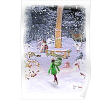 Winter Woodland Fairies Poster