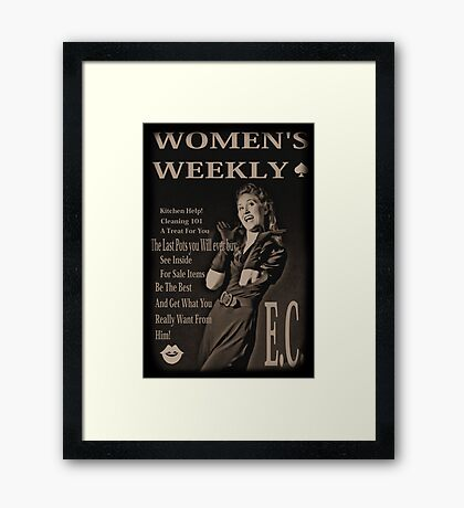 women's weekly Framed Print