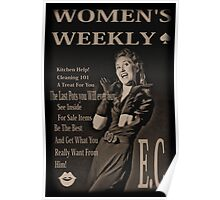 women's weekly Poster