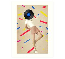 Color Chaos Collection -- The Party Never Ends Art Print