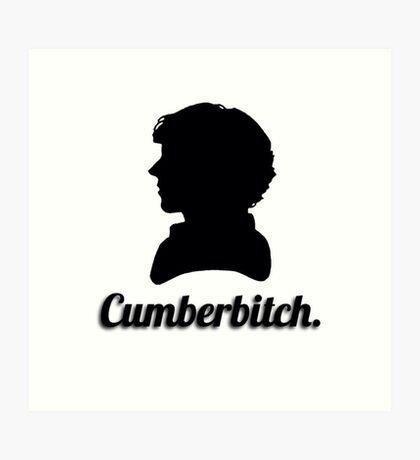 Cumberbitch silhouette design Art Print