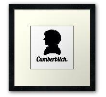 Cumberbitch silhouette design Framed Print