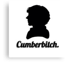 Cumberbitch silhouette design Canvas Print