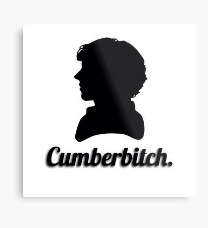 Cumberbitch silhouette design Metal Print