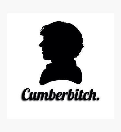 Cumberbitch silhouette design Photographic Print