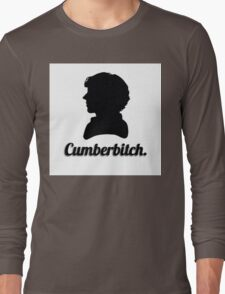 Cumberbitch silhouette design Long Sleeve T-Shirt